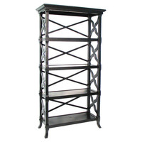 Charter 4-Shelf Bookcase in Black