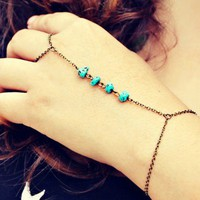 turquoise nuggets slave bracelet
