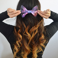 Galaxy Hair Bow (#2) - Dimeycakes - Hair Bows, Cases, & Apparel