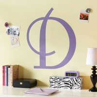 Script Monogram Decal