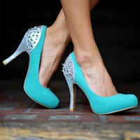 RESTOCK: Tiffany Blue Beauty Heels: Silver | Hope&#x27;s