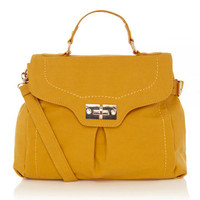 Top Handle Square Lock Satchel