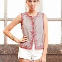 Winter Kate Ranji Vest in Adobe Rose