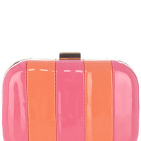 Stripe Bubblegum Clutch