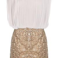Business Glamour Dress | Sequin Twofer Dresses | Rickety Rack