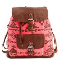 Tribal Print Canvas Backpack: Charlotte Russe