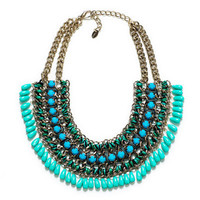 CORD CHAIN NECKLACE WITH TURQUOISE STONES - Accessories - Accessories - Woman - ZARA United States