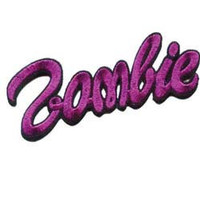 "Creepy Zombie Dead Horror Gothic Iron on Patch - Barbie Font Type ""Zombie"" KV67"