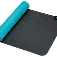 Kulae tpECOmat Eco 3mm x 24 x 72-Inch Yoga Mat (Sea and Slate)