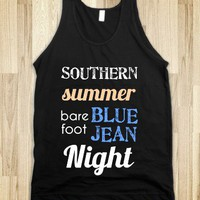 Southern Summer Barefoot Blue Jean Night