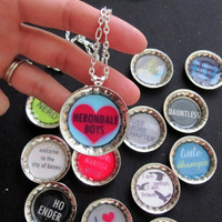 YA Book Nerd Necklace - The Mortal Instruments - Ender's Game - Vampire Academy - Divergent