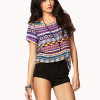 Bold Geo Print Top