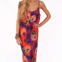 Iron Fist Reina Muerte Keyhole Dress - Orange