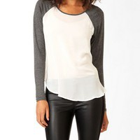 Sheer Raglan Sleeve Top | FOREVER 21 - 2031557247