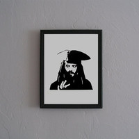 Captain Jack Sparrow Pirates of the Carribean by CuttingPixels