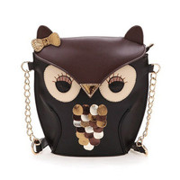Vintage Contrast Color Owl Satchel/Purse from GeekFun