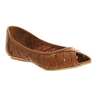 Office PAPAYA TAN LEATHER Shoes - Womens Flats Shoes - Office Shoes