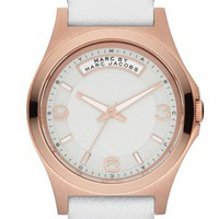 MARC BY MARC JACOBS 'Baby Dave' Leather Strap Watch, 40mm | Nordstrom