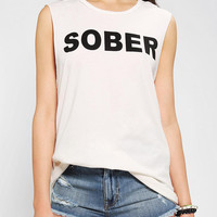 Urban Outfitters - CULT By Lip Service Sober &amp; Bored Muscle Tee