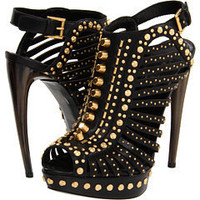 Alexander McQueen Studded Cage Pump With Horn Heel at Couture.Zappos.com