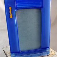 Blue Glass Frame by Design4Soul