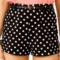 High-Waisted Polka Dot Shorts | FOREVER 21 - 2040996044