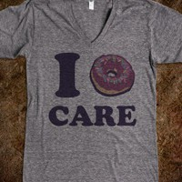 I Doughnut Care - Kawaii - Skreened T-shirts, Organic Shirts, Hoodies, Kids Tees, Baby One-Pieces and Tote Bags