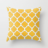 yellow clover Throw Pillow by her art