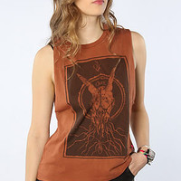 Obey Tee Ghost Skull Moto Muscle Tank in Sierra