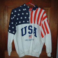 USA Patriotic Las Vegas NV Sweatshirt  Long Sleeve Shirt Top by ESY   Sz S  NEW