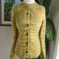 Ready to ship /GORGEOUS Handmade knitted Mohair Sweater/ Cardigan