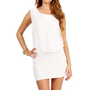 Ivory Sleeveless Chiffon Crochet Dress