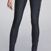 SIDE-SNAP ZELDA JEAN LEGGING at Express