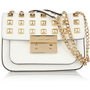 MICHAEL Michael Kors|Sloan studded leather shoulder bag|NET-A-PORTER.COM