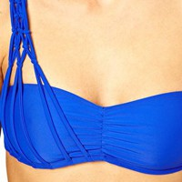 ASOS Macrame One Shoulder Bikini Top at asos.com