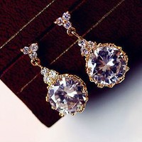 Princess's Jewel Rhinestone Earrings | LilyFair Jewelry
