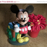 Mothers Day Sale Disney, Disneyana, Mickey Mouse, Coin Bank, Money Box, Figurine, Mail Box Bank, Traditional Mickey,  Disney Collectable, T