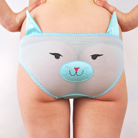 Kitty face panties with ears lingerie