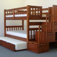 Stairway Bunk Bed Twin over Twin i...