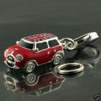 British Sterling 925 Silver Charm Enamel Mini Cooper Car Union Jack, Italian Job | eBay