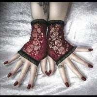 Bella Lugosi's Dead Lace Fingerless Glove Arm by ZenAndCoffee