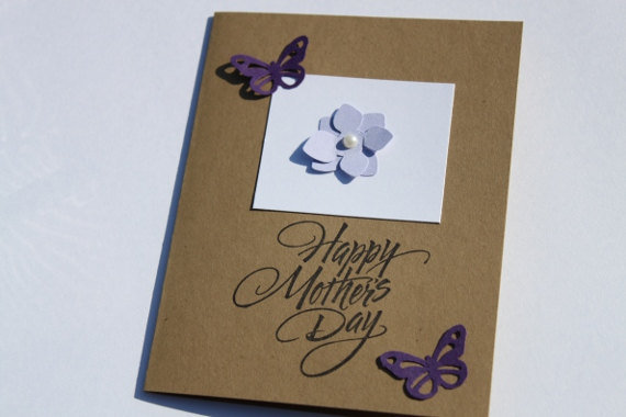 Mother's Day Card Butterfly Hydrangea by RoyalRegards on Etsy
