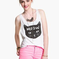 Ten Sixty Sherman 'Meow Kitty' Tank (Juniors) | Nordstrom