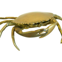 One Kings Lane - A Vintage Marine Mood - Brass Crab  Trinket Box