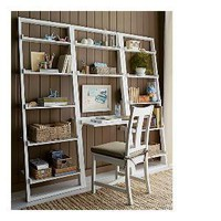 Sloane White Leaning Desk with 2 25.5&quot; Bookcases