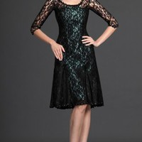 Black A-line Knee-length Jewel Dress [3646173] - $103.00 : dressoutletstore.co.uk, Wedding Dresses Outlet