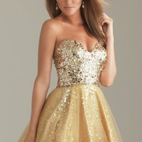 Brown Ball Gown Short Strapless Dress [9546394] - $82.00 : dressoutletstore.co.uk, Wedding Dresses Outlet