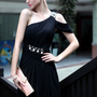 Black Sheath Floor-length One Shoulder Dress [8304969] - $136.00 : dressoutletstore.co.uk, Wedding Dresses Outlet