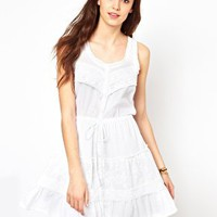 Warehouse Cotton Lace Dress at asos.com