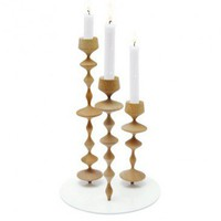 Les Perles Candleholder (X-Large) in Natural by Y'A PAS